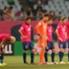Penggawa Cerezo Osaka tertunduk lesu setelah menelan kekalahan di laga pamungkas J-League