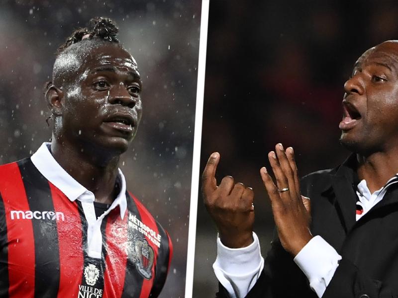 Nice, Vieira justifie l'absence de Balotelli