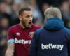 Marko Arnautovic and Manuel Pellegrini shared a heated exchange