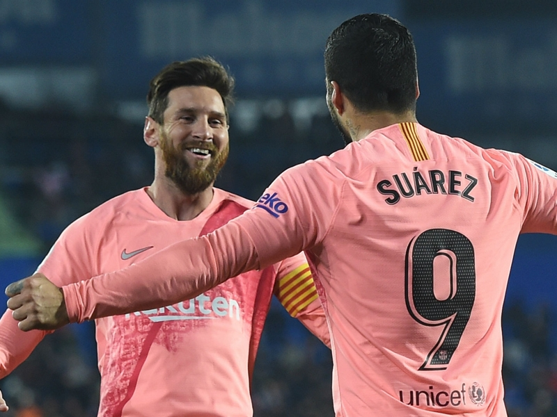 Barca stars Messi and Suarez show what Madrid are missing