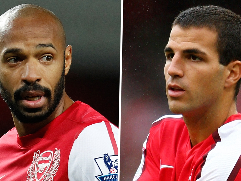 Friends reunited: Fabregas and Henry to renew special Arsenal relationship