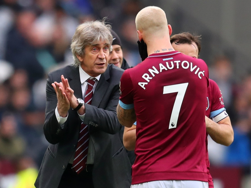 Arnautovic training without problems at West Ham, claims Pellegrini