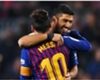 Barcelona stars Lionel Messi and Luis Suarez