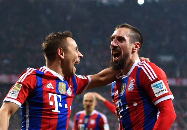 Franck Ribery besorgte für den FC Bayern den Treffer des Tages
