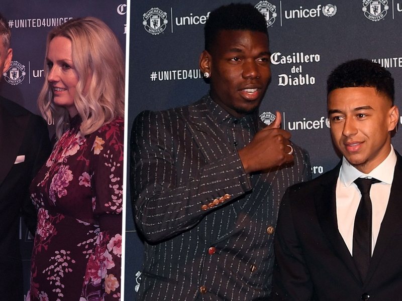 Man Utd stars pose on the red carpet as they raise money for charity at annual gala dinner