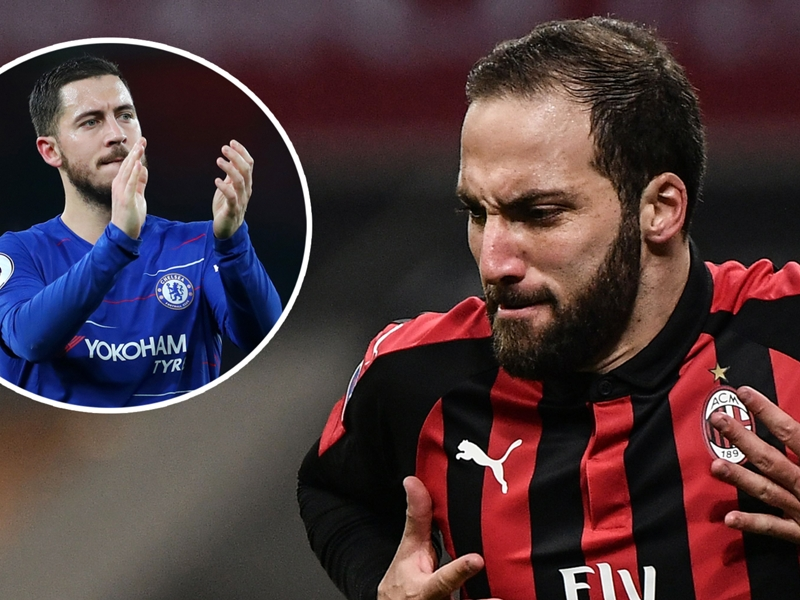 Hazard excited to link up with Higuain & expects him to bang in the goals for Chelsea