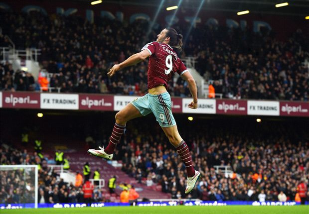 West Ham 3-1 Swansea City: Carroll & Sakho send Hammers into top four