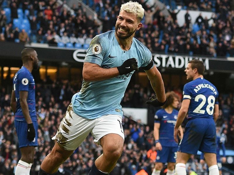 Aguero reaches Man City milestone in Chelsea thrashing
