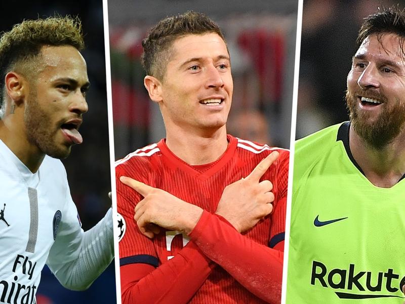 Champions League top scorers 2018-19: Lewandowski, Messi & Neymar lead the way