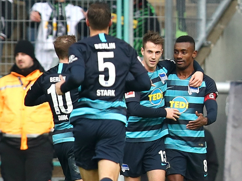 Hertha Berlin's Salomon Kalou stars in Borussia Dortmund loss