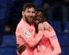 Barcelona team-mates Lionel Messi and Ousmane Dembele