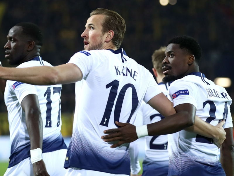 Borussia Dortmund 0 Tottenham 1 (0-4 agg): Kane sees Spurs cruise into quarter-finals