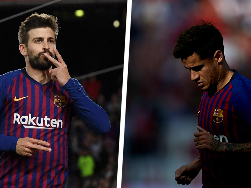 'Police commissioner' Pique making Coutinho's dire Barcelona form look criminal