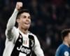 CR7 comemora um de seus gols no primeiro hat-trick pela Juventus