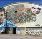 El mural de Messi gigante