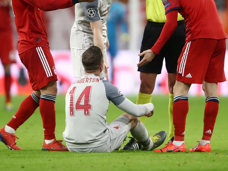 Klopp fears Henderson injury suffered in Bayern victory 'looks serious enough'