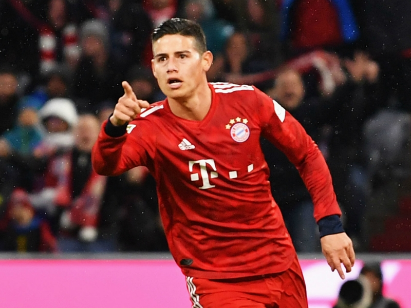 Bayern Munich 6 Mainz 0: James hat-trick sends champions back to summit after Liverpool loss