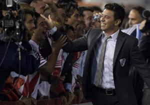 Gallardo logró reivindicarse en el Monumental y recibió la ovación de los hinchas.