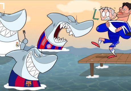 Mourinho le teme a los 'tiburones'