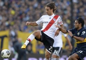 Ponzio fue clave en la semifinal contra Boca.