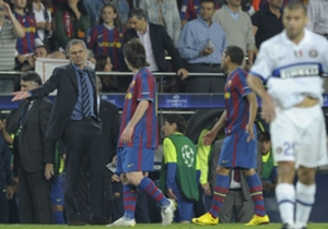 Jose Mourinho and Lionel Messi
