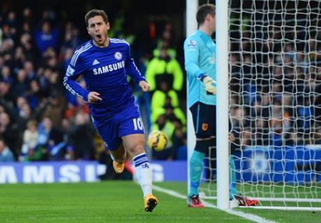 Chelsea 2-0 Hull: Hazard, Costa score