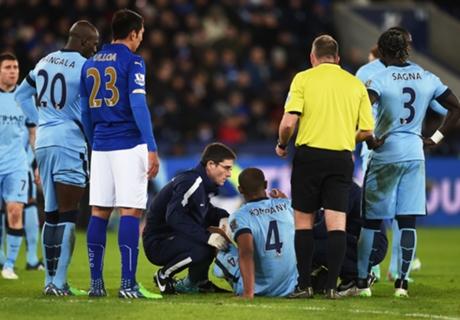 Kompany adds to City injury woe