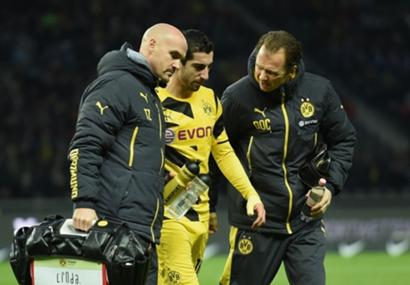 Mkhitaryan injury blow for Dortmund