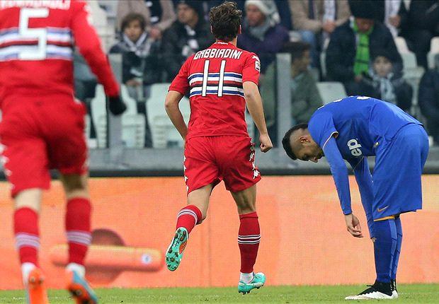 Juventus 1-1 Sampdoria: Gabbiadini strikes to seal a point against champions