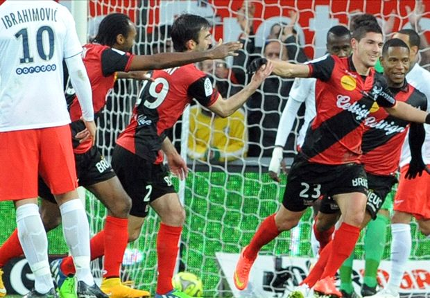 Guingamp 1-0 PSG: Pied trips up champions' title charge