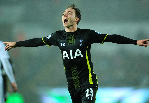 Swansea City 1-2 Tottenham: Eriksen strikes as Spurs seal another late win