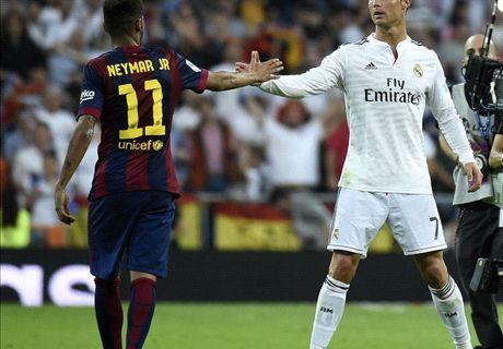 L'équipe type à la mi-saison de Liga avec CR7, Messi & Neymar