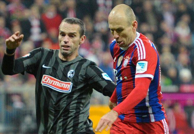 Bayern 2-0 Freiburg: Robben bags 100th goal in stroll