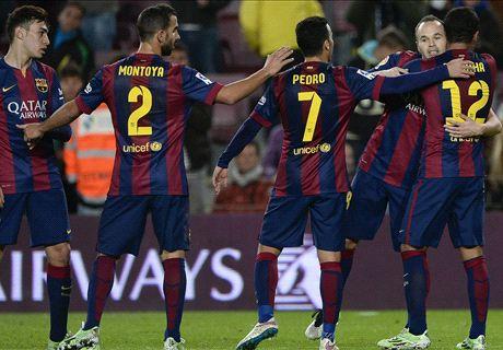 Barca 8-1 Huesca: Pedro hat trick