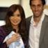 La Presidenta se sacó una foto con Diego Milito, máximo referente de la Academia.