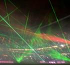In Beeld: Spectaculaire lasershow bij Bayern