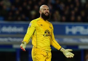 Everton goalkeeper Tim Howard