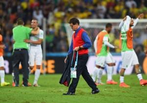 Fabio Capello, pensativo durante el Mundial