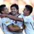 Pajarito celebra su gol de penal.