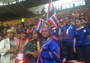 Thai supporters in Bukit Jalil