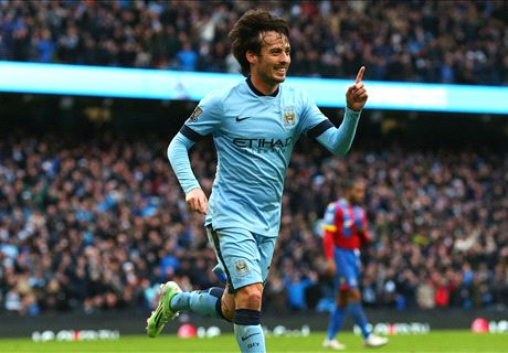 Silva helpt City langs stug Crystal Palace