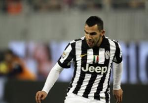 L'attaccante della Juventus, Carlos Tevez
