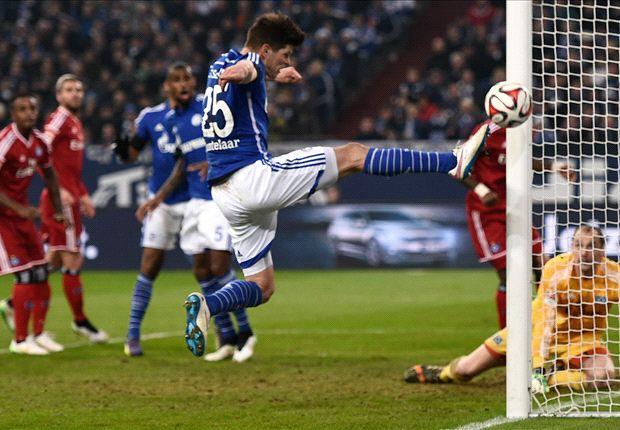 Klaas-Jan Huntelaar verlängerte, blieb aber gegen den HSV ohne Tor.