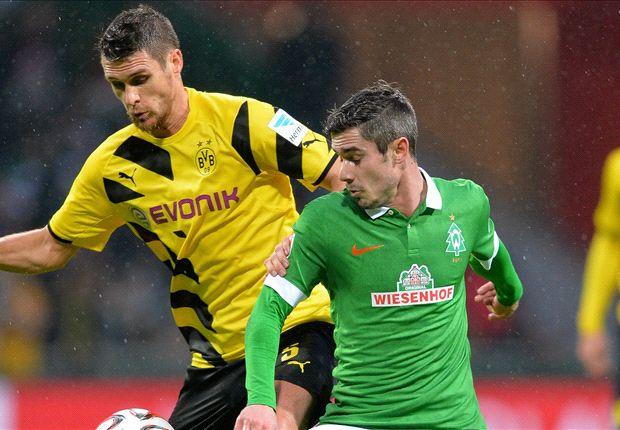 Fin Bartels (re.) traf zum zwischenzeitlichen 2:0 gegen Dortmund