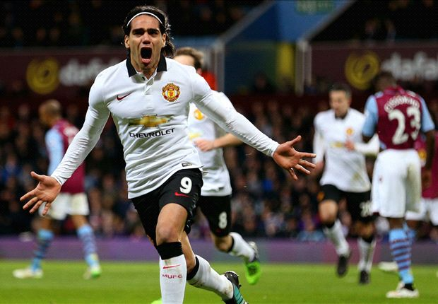 Aston Villa 1-1 Manchester United: Falcao on target but Red Devils held by 10 men