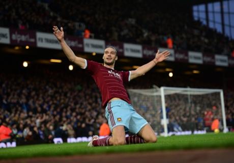 West Ham 2-0 Leicester: Carroll scores