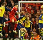 IN PICTURES: Skrtel scores and Wenger's men fade