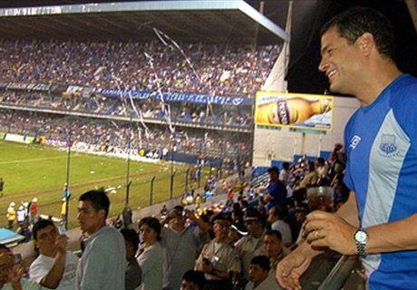 Rafael Correa también dio la vuelta