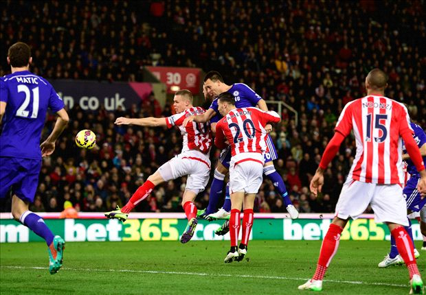 Stoke City 0-2 Chelsea: Terry & Fabregas keep Mourinho's men three points clear