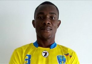 Chika Wali all smiles after signing for the Mumbai club.